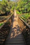 Long Sling Bridge. Over the river Stock Photo