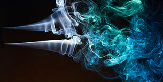 Long smoke curves Royalty Free Stock Images