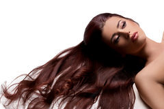 Long Smooth Hair Royalty Free Stock Photos