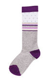 Long sock gray and purple Royalty Free Stock Photography