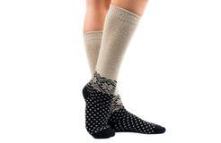Long socks on his feet Stock Image