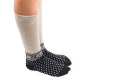 Long socks on his feet Royalty Free Stock Photography