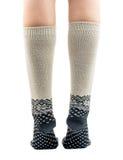 Long socks on his feet Royalty Free Stock Image