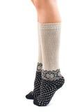 Long socks on his feet Stock Images
