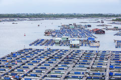 Long Son floating fishing village Royalty Free Stock Photo