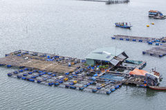 Long Son floating fishing village Stock Photography