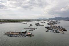 Long Son floating fishing village Stock Photo