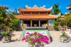 Long Son Pagoda, Nha Trang. Long Son Pagoda or Chua Long Son is a Buddhist temple in the city of Nha Trang in south Vietnam stock image