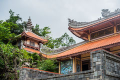 Long Son pagoda in Nha Trang, Vietnam. Asia Travel concept. Journey through Vietnam Concept stock photography