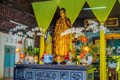 Long Son pagoda in Nha Trang, Vietnam. Asia Travel concept. Journey through Vietnam Concept royalty free stock image