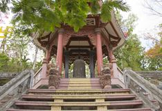 Long Son Pagoda. Vietnam, Nha Trang, July 2015:  Long Son Pagoda royalty free stock photography
