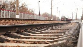 Long soviet era Freight train arrival.  stock video footage