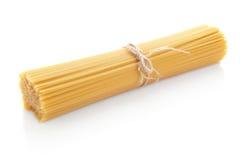 Long spaghetti raw isolated on white background Stock Photo