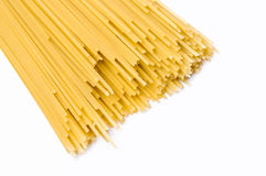 Long spaghetti on a white background Royalty Free Stock Image