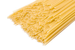 Long spaghetti on a white background Royalty Free Stock Photography