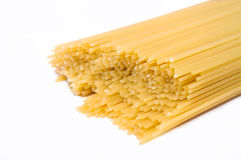 Long spaghetti on a white background Stock Photography