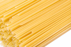 Long spaghetti on a white background Royalty Free Stock Images