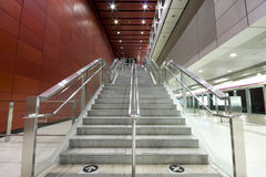 Long stair. In a train station in hong kong Stock Photography