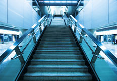 Long stair. In a train station in hong kong Royalty Free Stock Photos