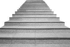 Long stair concrete isolated Royalty Free Stock Photo