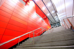 Long stair in a modern building Royalty Free Stock Photo
