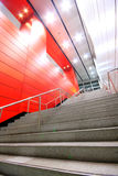 Long stair in a modern building Stock Photo