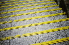 Long stairs with many steps Royalty Free Stock Images
