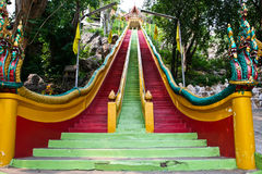 Long stairs Statue in Thailand royalty free stock images