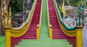 Long stairs to Buddha Statue Stock Image