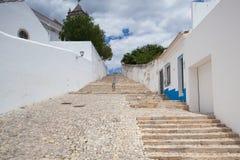 Long stairs to the  Church of Santa Maria do Castelo,Tavira, Por Royalty Free Stock Photo