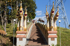 Long stairs to temple Royalty Free Stock Photo