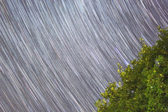 Long star trails Stock Photo
