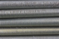 Long steel screws thread background 2 Stock Image