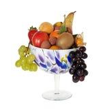 Long stemmed decorative fruit bowl Stock Image