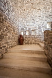 Long stone staircase inside of ancient tower Royalty Free Stock Image