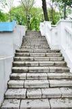 Long stone staircase royalty free stock photos