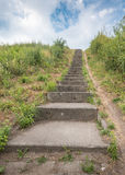 A long stone staircase to heaven Stock Images