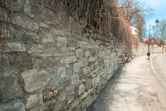 Long stone wall Royalty Free Stock Photography