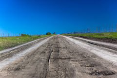Straight Dirt Road Horizon Stock Photo