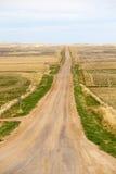 Long straight dirt road in North Carolina, America Royalty Free Stock Image