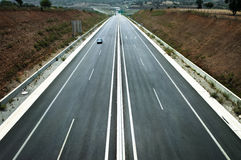 Long And Straight Highway Royalty Free Stock Photography