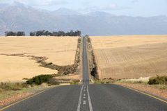 Long straight highway South Africa Stock Photo