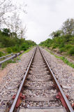 Long straight piece of rail track Royalty Free Stock Photography