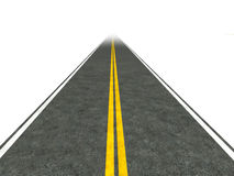 Long, straight road illustration. Royalty Free Stock Image