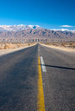 Long straight road in northern Argentina Stock Photo