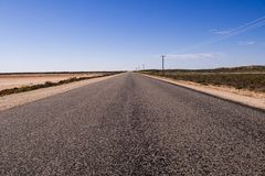 A long straight road in Western Australia royalty free stock images
