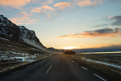 Long street mountain in iceland royalty free stock photography