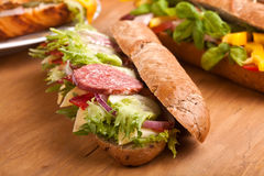 Long sub sandwiches Stock Images