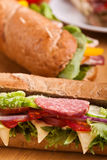 Long sub sandwiches Royalty Free Stock Photos
