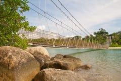 Long suspension bridge Royalty Free Stock Photo